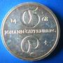 Alemanha-moeda Prata 10 Mark-1968-johann Gutemberg