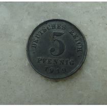 7977 Alemanha - 5 Pfennig 1919 - 18mm