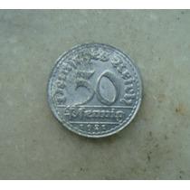 8168 Alemanha - 50 Pfennig 1921 D - 23 Mm Aluminio