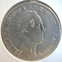 Alemanha Saxonia-moeda Prata Um Thaller-1848f-perfeita
