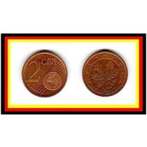 Moeda Alemanha 2 Euro .cent 2002 G * Folhas Carvalho (249)