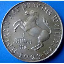 Cavalinho-moeda Alemanha-1 Bilhao De Mark Prata .peso 82 Gr
