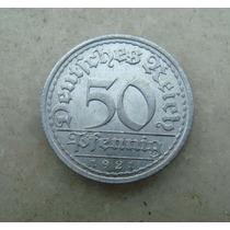 4033 Alemanha - 50 Pfennig 1921 - Aluminio A - Berlin Fotos!