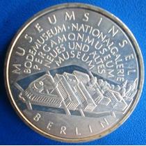 Alemanha-moeda Prata 10 Euros-2002-museu Berlim-espelhada