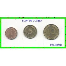 2752 - Alemanha 1/5/10 Pfennig Fc