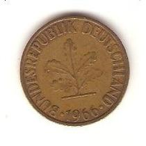 Linda Moeda Da Alemanha De 10 Pfennig De 1966 -