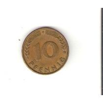 Linda Moeda Da Alemanha De 10 Pfennig De 1949 - Vejam A Foto