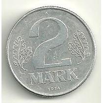 Alemanha Oriental Democrática - 2 Marcos 1974 - Escassa