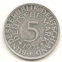 R20 - Moeda 5 Deutsche Mark - Prata - Alemanha - 1972 -