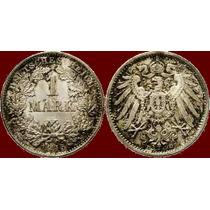 Império Alemão. Wilhelm Ii., 1 Marco. Moeda Prata Munique