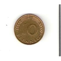 Linda Moeda Da Alemanha De 10 Pfennig De 1950 - Vejam A Foto