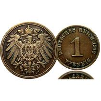 M-109 Moeda Alemanha 1912 Cobre Reich Imp.raridade Cedula Se