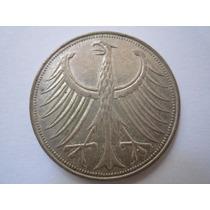 Alemanha Moeda Prata 5 Deutsche Mark 1958 D
