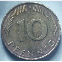 Moeda Alemanha De 10 Pfennig 1988