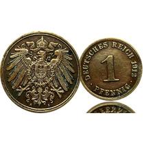 M-142 Moeda Alemanha 1912 Cobre Reich Imp.raridade Cedula Se