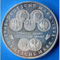 Alemanha-moeda Prata 10 Euros,1988-50 Anos Marco Alemão