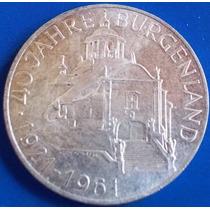 Austria-moeda Prata 25 Schilling-1961-40 Anos Burgenland