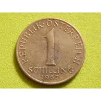 Moeda Da Áustria De 1 Schilling De 1967 (ref 446)