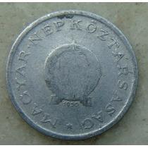 9586 - Hungria 1 Forint 1950, 23mm, Serrilha - Aluminio
