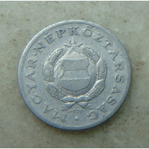 9662 - Hungria 1 Forint 1970, 23mm, Serrilha - Aluminio