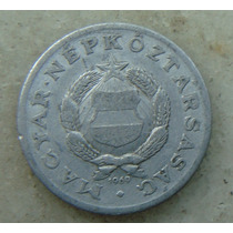 9587 - Hungria 1 Forint 1969, 23mm, Serrilha - Aluminio
