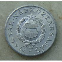 9583 - Hungria 1 Forint 1968, 23mm, Serrilha - Aluminio