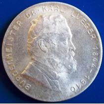Austria-moeda Prata 2 Shilling-1935-dr.carl Lueger