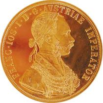 Moeda De Ouro Maciço 4 Ducados Áustria 1915 986/999 K 14 Gr