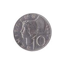 Áustria - 10 Shillings De 1.958 - Prata