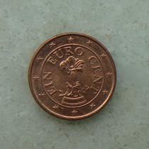 1542 - Austria 1 Cent, Euro Ano 2004, Aço Cobre - 16mm