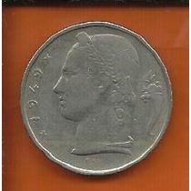 Moeda Bélgica 5 Francos 1949 Para Coleção