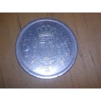 Moeda De 5 Pesetas Espanha De 1975 Por R$2,00