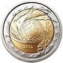Moeda Comemorativa Bimetálica De 2 Euros Italia-2004