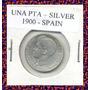 3349 - Espanha - Una Peseta 1900 Prata Rara