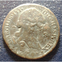 Moeda Antiga Espanha Ano 1774 Carlos Iii