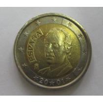 Espanha: Bela Moeda De 2 Euros De 2001 Soberba