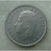 1366 - Espanha 50 Pesetas 1975 - Niquel - Carlos I - 30mm