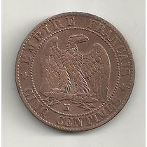 5 Centimes 1856 K - França - Cobre - Napoleão Bonaparte
