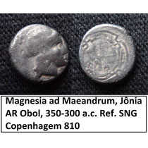 Moeda Prata Grecia Magnesia Ad Maeandrum, Jônia Obol Antiga