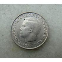 4012 - Grecia 50 Drachma, Apaxmai 1970 - 18mm, Niquel