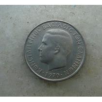4162 - Grecia 50 Drachma, Apaxmai 1970 - 18mm, Niquel