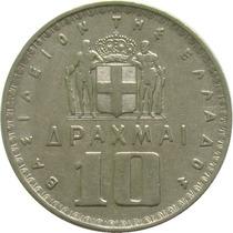 Grécia - 10 Dracmai 1959 (rei Paulo I)