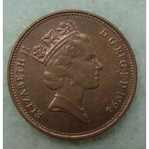 2183 Inglaterra 1994 Two Pence Elizabeth I I 26mm - Bronze