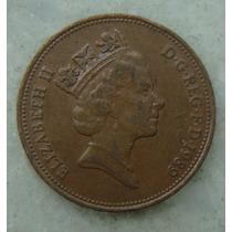 2182 Inglaterra 1989 Two Pence Elizabeth I I 26mm - Bronze