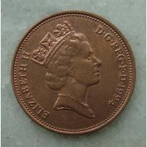 2178 Inglaterra 1994 Two Pence Elizabeth I I 26mm - Bronze