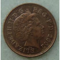 2200 Inglaterra 2002 Two Pence Elizabeth I I 26mm - Bronze
