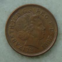 2198 Inglaterra 2001 Two Pence Elizabeth I I 26mm - Bronze