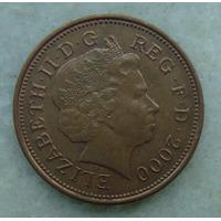 2297 Inglaterra 2000 Two Pence Elizabeth I I 26mm - Bronze