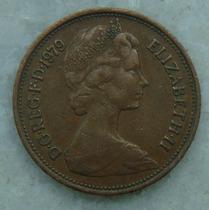 2294 Inglaterra 1979 Two Pence Elizabeth I I 26mm - Bronze