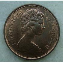 2301 Inglaterra 1976 Two Pence Elizabeth I I 26mm - Bronze